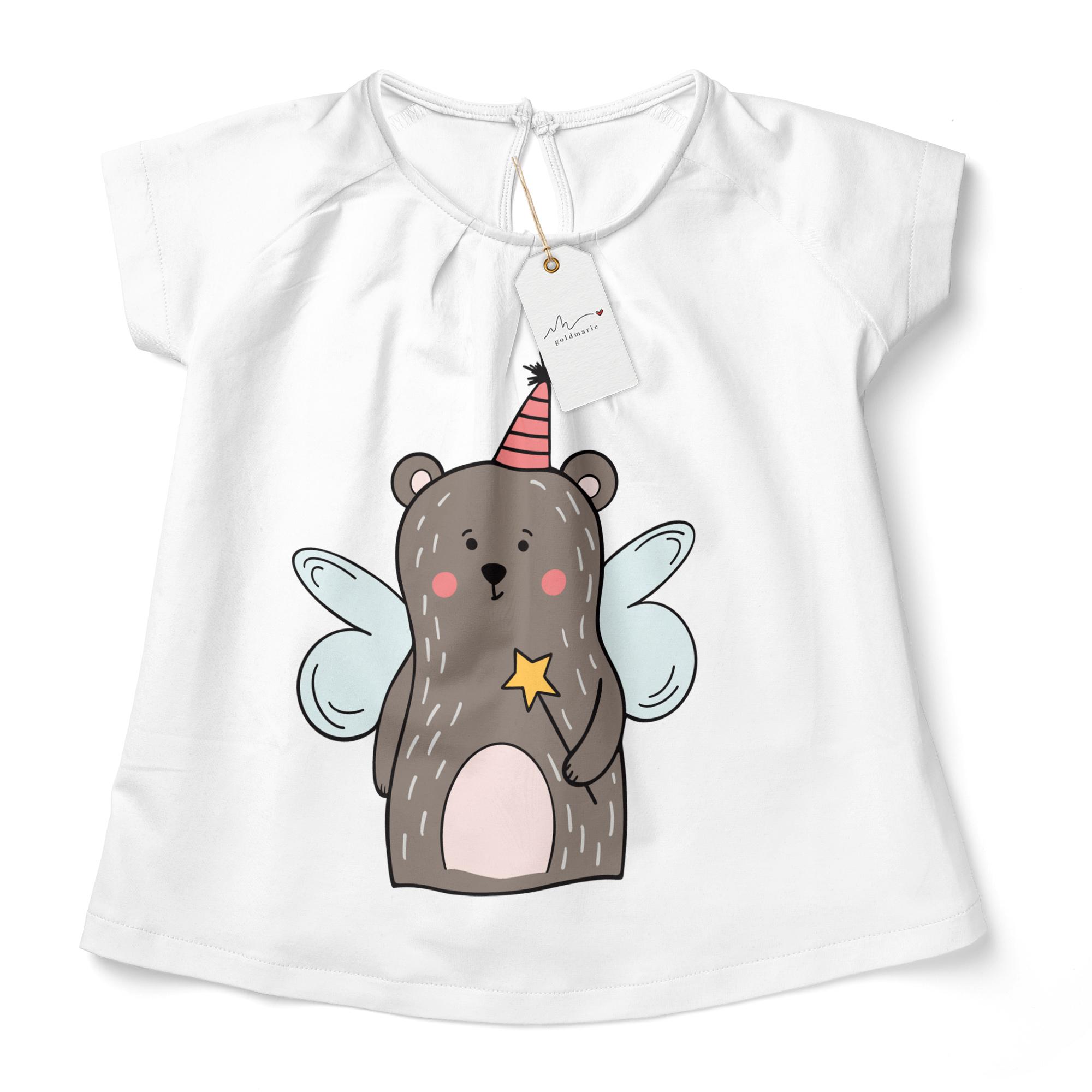 Plotterdatei Feenbär LOTTI, niedlicher Teddybär als Zauberfee verkleidet