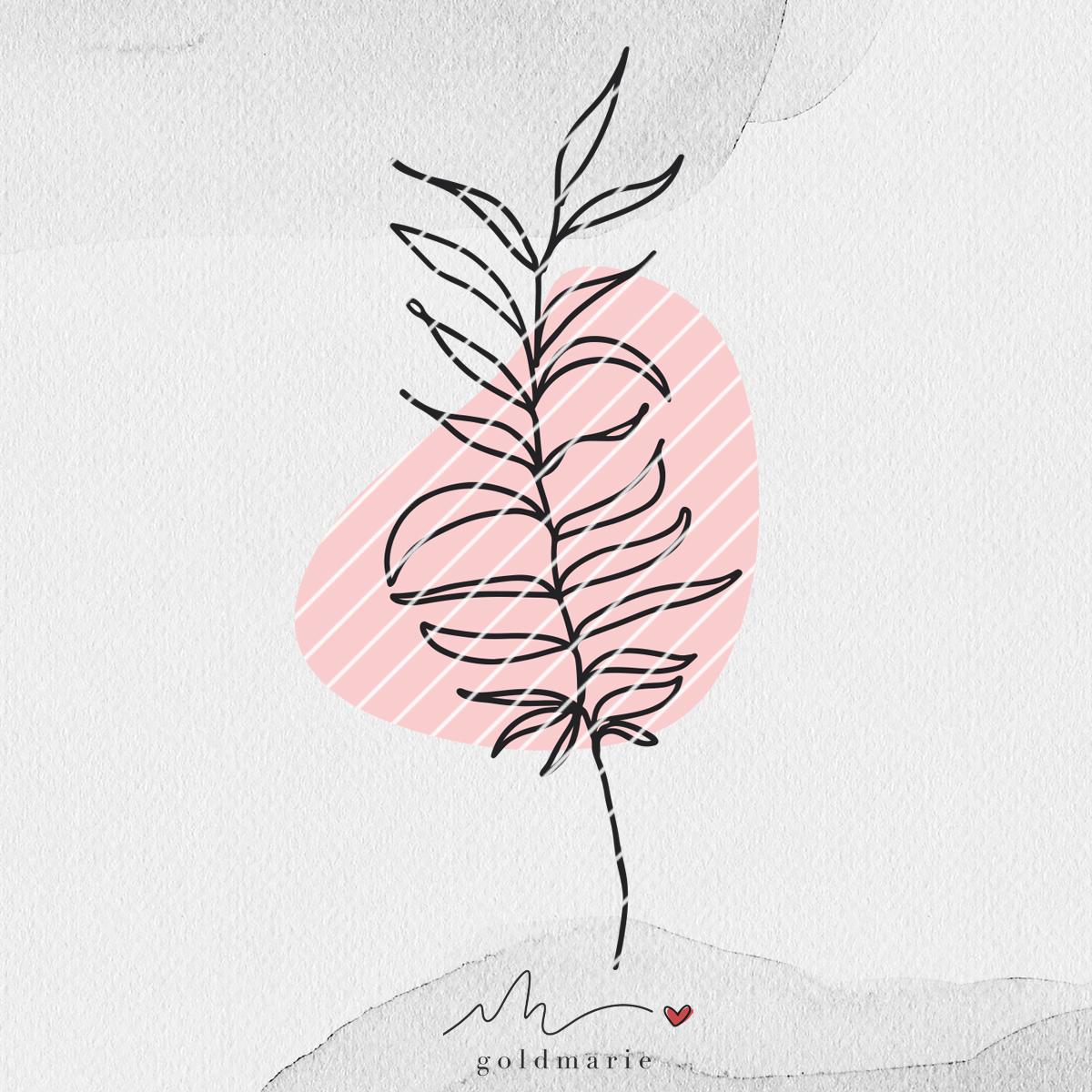 GOLDMARIE Plotterdatei - One Line Florals Tropic