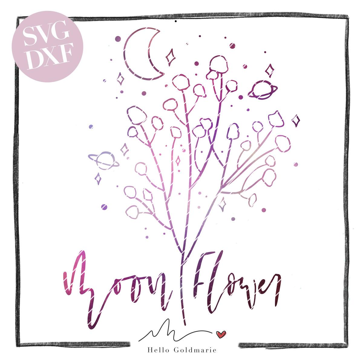 Hello Goldmarie Plotterdatei - Moon Flower